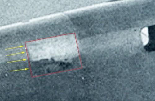 Zoom do reparo com o artefato sobreposto - Foto Discovery News