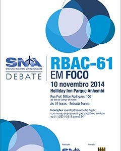SNA: Evento gratuito debate implicações do RBAC-61