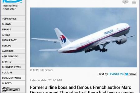 Novas especulações sobre o 777 desaparecido da Malaysia #MH370