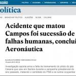 Vazamento do relatório do acidente com o candidato Eduardo Campos em Santos