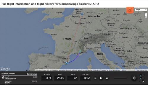 Imagem do FlightRadar24