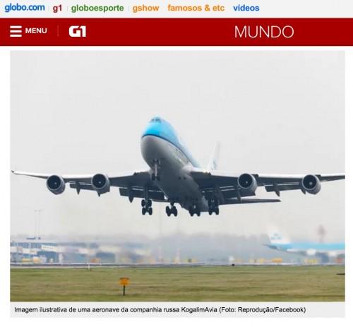 Um 747 da KLM ilustrado como um avião da Kogalym