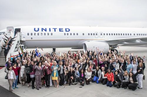 Um avião só de mulheres
