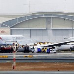 Emirates EK-521, incêndio após o pouso anormal.