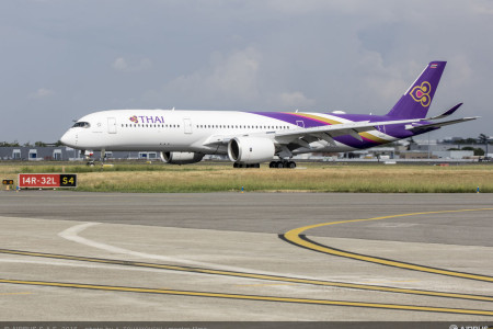 Incidente com um Airbus A350 da Thai Airways