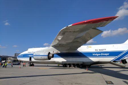 Antonov An-124 em GRU. O que ele veio pegar aqui?