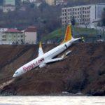 Um Boeing 737-800 da PEGASUS saiu da pista durante o pouso em Trebizonda na Turquia