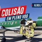Colisão aérea: piloto pousa avião partido ao meio
