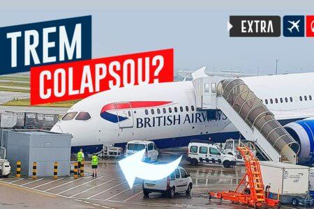 O Trem do Nariz desse 787 Colapsou?