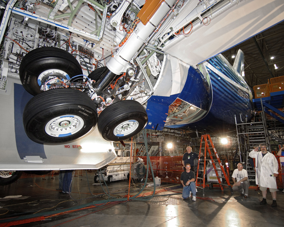 787 Dreamliner inicia os testes de trem de pouso