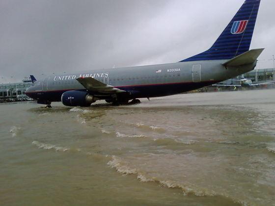 Fotos da chuva em Chicago