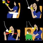 Como funcionam as máscaras de oxigênio em um avião?