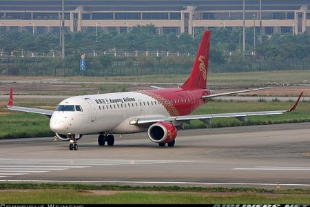 Primeiro acidente com um Embraer 190, durante o pouso, na China