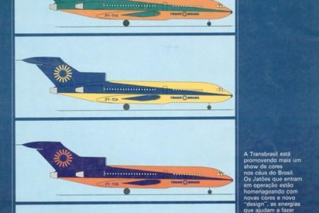 Olhem como a TransBrasil era moderna neste anúncio dos anos 70