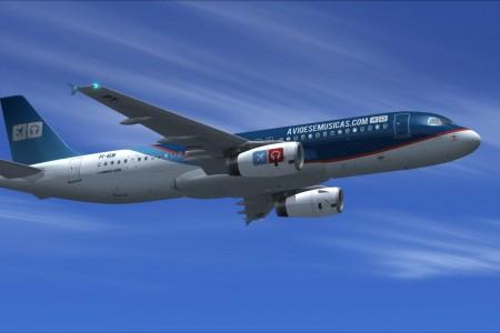 Pintura grátis do AeM para Project Airbus A320 FSX e FS9 #FlightSimulator