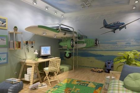 Um quarto para os amantes da aviação