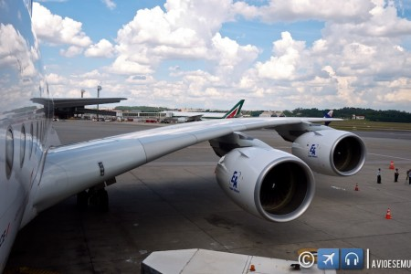 O A380 em sua visita a São Paulo