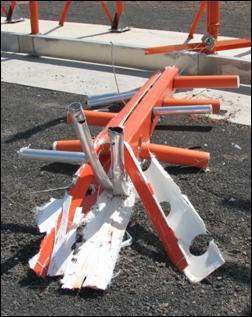 Antenas do localizador danificadas