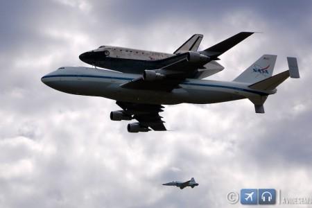 Discovery Space Shuttle transportada em cima do 747 para o museu de Washington #fotos #spotting