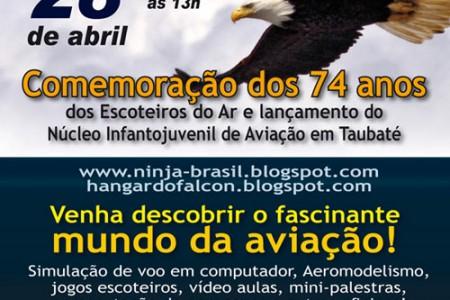 Grupo Escoteiro do Ar inaugura Núcleo Infantojuvenil  de Aviação em Taubaté