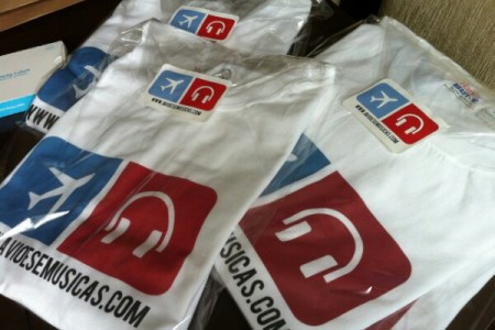 Camisetas a caminho