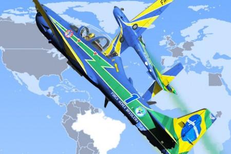 Chegam os dois primeiros A-29 (Super Tucano) da Esquadrilha da Fumaça!