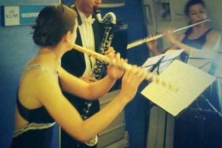 Royal Concertgebouw Orchestra fez apresentação inédita a bordo do Boeing 777-300 equipado com Wi-Fi