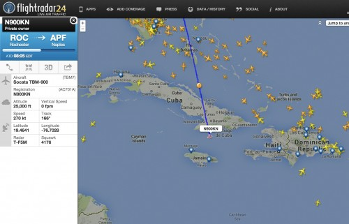 Tracking do voo através do FlightRadar24