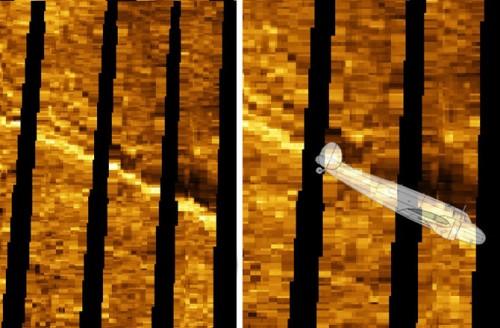 Imagem de anomalia de sonar - Foto Discovery News