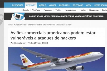 Agência americana alerta contra ataques de hackers a aviões. De novo?