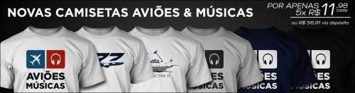 Imagem das Camisas do AvIões e Músicas