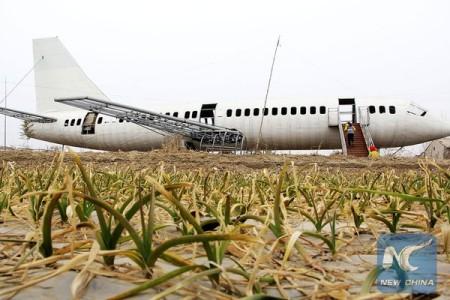 """Fazendeiro na China faz um """"mockup"""" de avião"""