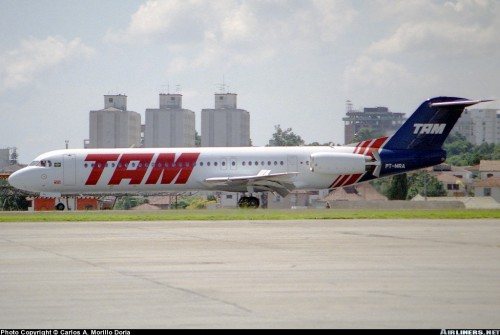 Foto copyright: http://www.airliners.net/photo/TAM/Fokker-100-(F-28-0100)/0591212