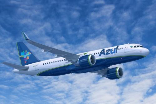 Foto do A320NEO da Azul