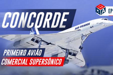 Chego em 8 min! Concorde, o avião comercial supersônico.